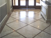 Fantastic finish to a high traffice area of marble flooring in a hallway.